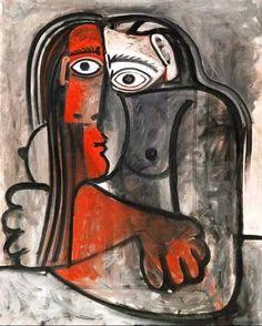 Pablo Picasso, nu bras croisés on ArtStack Pablo Picasso, Kunst Picasso, Art Picasso, Picasso Drawing, Picasso Paintings, Georges Braque, Picasso Blue Period, Art Visage, Cubist Movement