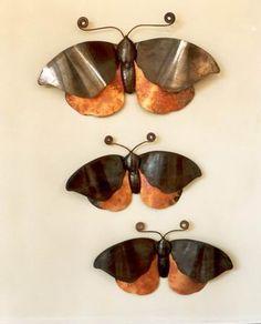 פרפר - תכשיט קיר- נתיש ישראל פ, תיק עבודות צורפות, עיצוב תכשיטים, תכשיטנות נתיש. תיקי עבודות אמנים ישראלים - אמנות ישראלית