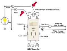 how to wire switches combination switch outlet light fixture turn rh pinterest com installing gfci receptacle / switch combo Wiring Diagram for Switch and Receptacle