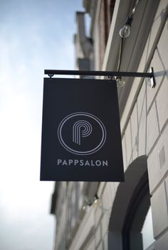 "beautiful shop sign from ""PAPPSALON"" in Itzehoe www.pappsalon.com"