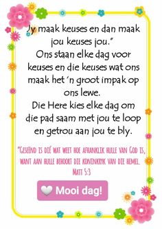 Afrikaanse Quotes, Goeie More, African