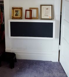 Wall-mounted 'Secretary Desk' for kids! {Sawdust & Embryos}