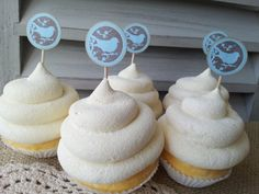 25 Bird on a Branch Cupcake Toppers or Food by LazyDayCottage