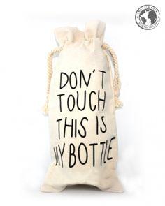 Botella de plastico con estuche. 500 ml.