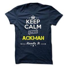 ACKMAN -Keep calm T-Shirts, Hoodies (19$ ==► BUY Now!)