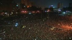 Ousted leader of Egypt, Hosni Mubarak ''close to death'' via BBC. // Image: protestors of Tahrir Square are closely following case.