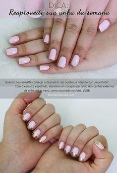 Reaproveite sua #unha da semana! A way to make your #manicure last longer. #nails #manicure #esmalte #dica #nailart by Beleza Dobrada