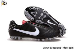 Fashion Black-Challenge Red-MetallCool Grey Nike Tiempo Legend IV Elite AG Soccer Shoes Shop