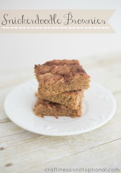 craftiness is not optional: snickerdoodle brownies