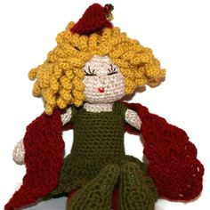 Elf on the Shelf Doll Amigurumi Crochet GIRL Doll by pigswife, $35.00