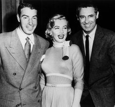 Marilyn Monroe Joe DiMaggio Wedding Date | Joe DiMaggio, Marilyn Monroe and Cary Grant