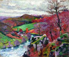 Armand Guillaumin (French; Impressionism, Post-Impressionism, 1841–1927): La Creuse Landscape, 1910. Oil on canvas, 50 x 61 cm. Private Collection
