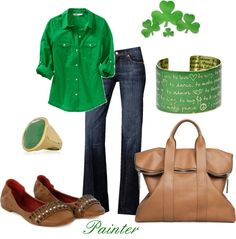 """""""St Patty's Day ~casual style~"""" by mels777 on Polyvore"""