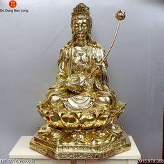 Tượng Đại Thế Chí Bồ Tát Bằng Đồng Cao 68cm - Đồ đồng Bảo Long