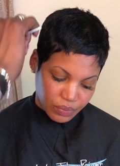 "Outstanding ""black hairstyles natural"" info is readily available on our site. Have a look and you wont be sorry you did. Super Short Pixie, Short Sassy Hair, Short Hair Cuts, Pixie Cuts, Black Hair Pixie Cut, Black Pixie Haircut, Short Relaxed Hairstyles, Short Cut Wigs, Lob Haircut"