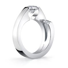 Contemporary tension set Wedding Rings for Women | Unique Tension Set Diamond Ring