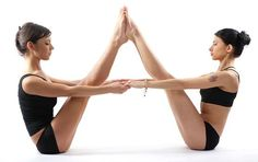 yoga pose two people - Google Search