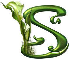 Alfabeto Decorativo: Alfabeto - Botânico - PNG