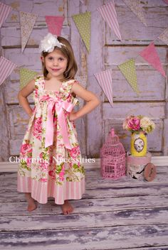 Girls Dress Spring Sun Dress Southern Belle by CharmingNecessities, $38.00