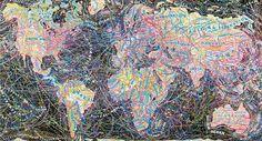 Stunning Subjectivity: Obsessive Typographic Maps by Paula Scher – Brain Pickings