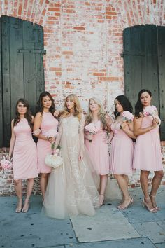 Pink bridesmaids - Katie Pritchard Photography