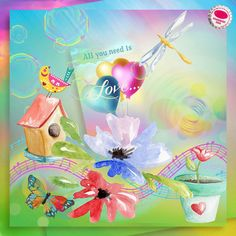 Emotional Spring is a scrap kit from 2015 production and it was part of a monthly scrap box. This is a revamped version, where I introduced extra embellishments and a few of watercolor drawings. The collection is now a sort of wide mixed media experiment where digital painting meets the traditional watercolor techniques. Here you can enjoy of bright colors and positivie vibes. Layout by Jillybean #digitalscrapbooking #memorymaking #layout #inspiration