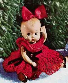 Christmas Doll with Red Dress | Crochet Patterns