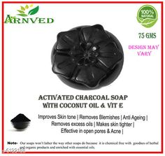 Bath & Shower Arnved Activated Charcoal Soap  Product Name: Arnved Combo of Anti Acne &Skin Whitening Soap Brand Name: Arnved Type: Scrub Multipack: 2 Country of Origin: India Sizes Available: Free Size *Proof of Safe Delivery! Click to know on Safety Standards of Delivery Partners- https://ltl.sh/y_nZrAV3  Catalog Rating: ★4 (160)  Catalog Name: Arnved Superior Brightning Bath Scrubs & Soaps CatalogID_931777 C52-SC1302 Code: 651-6122188-