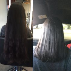 A dramatic cut Forsure. Nice long hair to a healthy beautiful blunt cut.