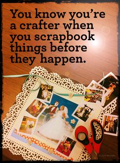"Sometimes we all get a little scrap-happy. I just entered the ""You Know You're Crafty When"" Pin it to Win it contest on Michaels.com for a chance to win one of twelve $100 gift cards. That could get me a ton of paper at @Michael Sullivan Stores"