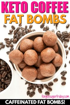 Love coffee? Then you will LOVE these Keto Coffee Chocolate Fat Bombs! They're sweet, chocolatey, and CAFFEINATED! Each keto fat bomb contains 9g fat, 1g net carbs, and is full of amazing chocolate-coffee flavor (and a little caffeine!). If you love keto coffee and keto chocolate, you're going to love these keto fat bombs! A yummy keto diet recipe. #keto #ketorecipes #ketodiet #ketocoffee #fatbombs via @fsugarfriday