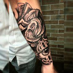 Rose Tattoo Forearm, Cool Wrist Tattoos, Forearm Sleeve Tattoos, Dope Tattoos, Hand Tattoos, Half Sleeve Tattoos Drawings, Half Sleeve Tattoos For Guys, Tiny Tattoos For Girls, Full Sleeve Tattoos