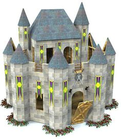 Whimsical castle plan castle playhouse playhouses and for Whimsical playhouse blueprints