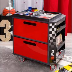 Found it at Wayfair - Champion GTI Racer Personalized Toy Storage Box
