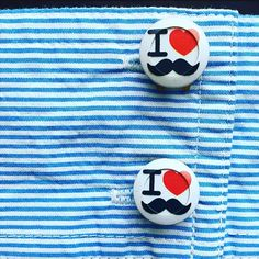 Mustache Button Covers just in time for Movember! MadetoALTR.com
