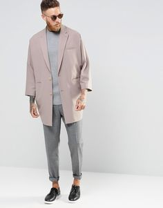 039b82839a87 ASOS Oversized Blazer In Pink love those proportions and look Masculine  Style