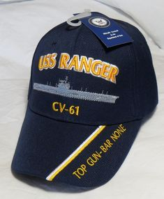 e7b578fe136 Uss ranger cv-61 us navy ship hat officially licensed baseball cap