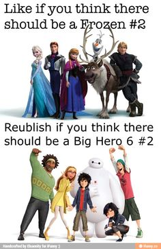 Repin if you think there should be a second Big Hero 6