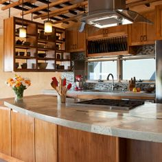 Concrete Countertops With Glass Design Ideas, Pictures, Remodel and Decor