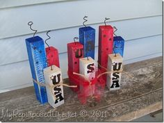 Wooden fire crackers. How cute.