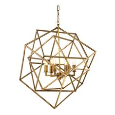 Eichholtz Matrix Lantern Pendant Light - Brass