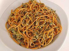 Kuerbis Spaghetti Mit Pesto Duett