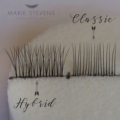 Hybrid Eyelash Extensions- a mix of classic and Russian Volume