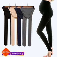 974ed97ea59 Velvet Pants Waist Abdominal Pregnancy Pregnant Mother Socks Panty  Stockings  fashion  clothing  shoes