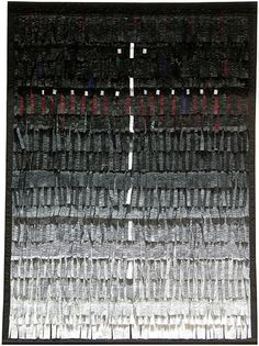 """Abdoulaye Konaté, """"Croix de Lumière"""", textile, 2010"""