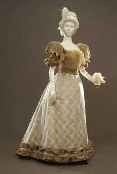 Evening dress ca. 1893-95 From the Galleria del Costume di Palazzo Pitti via Europeana Fashion