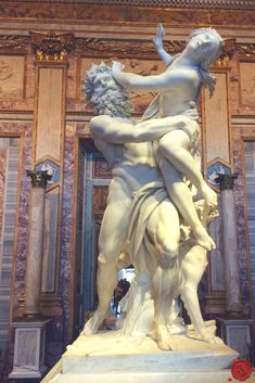 Did you know that the Borghese Gallery in Rome is home to some of Bernini's most famous statues! #iliveitaly #Bernini #Statue