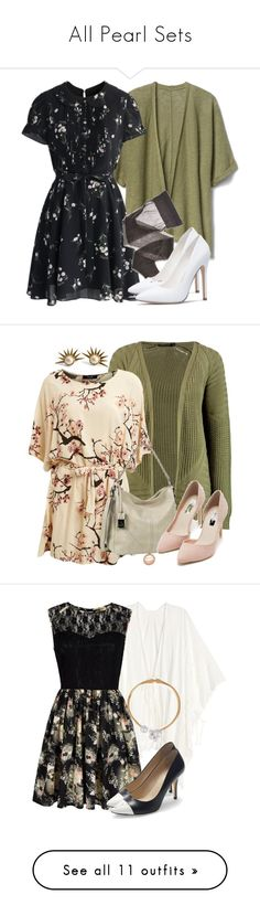 """""""All Pearl Sets"""" by fangsandfashion ❤ liked on Polyvore featuring pearl, vampirediaries, pearlzhu, Gap, Chicwish, Wolford, Boohoo, Lipsy, Gabor and Nly Shoes"""