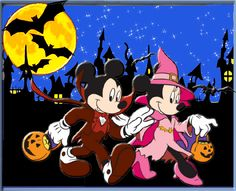 this is halloween! everybody scream everybody scream! Mickey Halloween Party, Halloween Bags, Halloween Clipart, Disney Halloween, Mickey Mouse And Friends, Mickey Minnie Mouse, Disney Mickey, Disney Pixar, Walt Disney