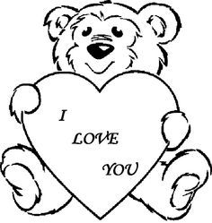 Love Heart Colouring Pages Online Places to Visit Pinterest